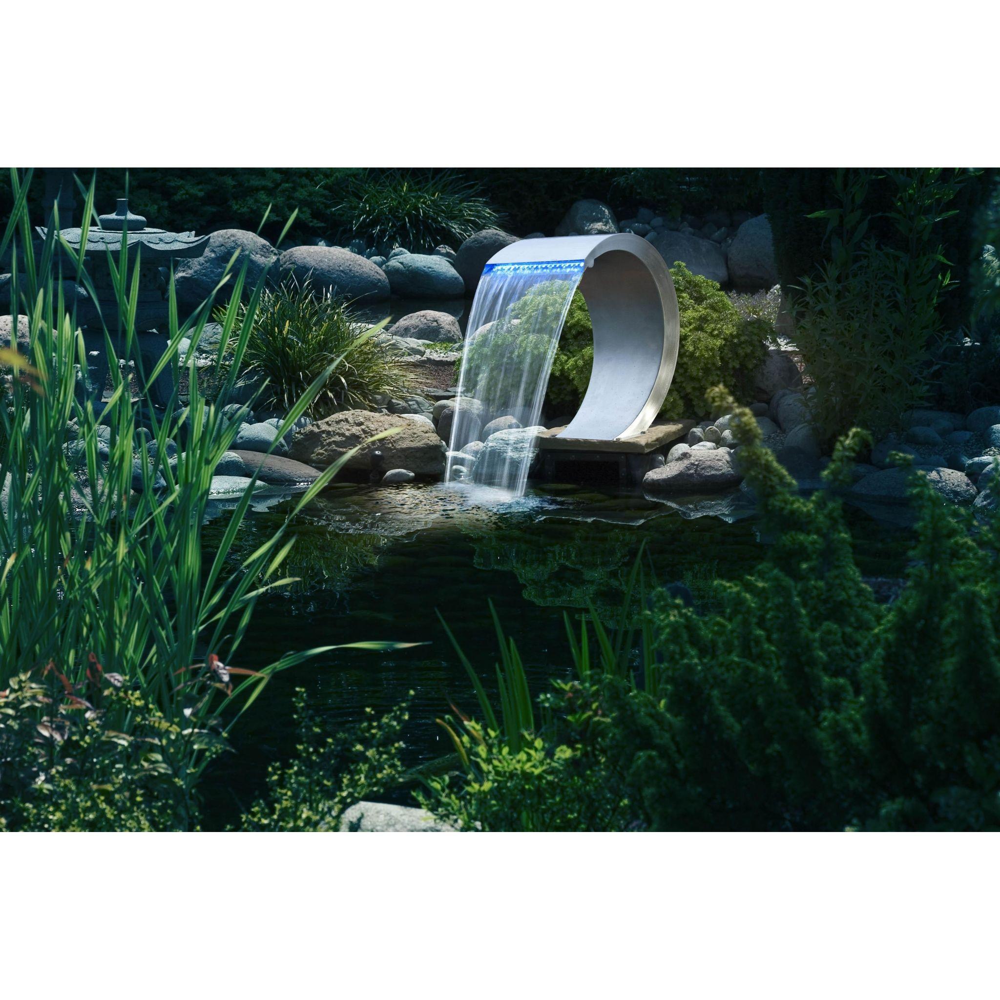 Mamba waterval roestvrij staal met led verlichting watervallen tuindecoratie - Tuindecoratie buiten ...
