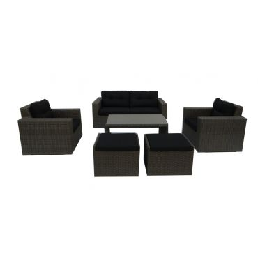Loungeset Couto 6-delig grey